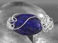 Lapis Lazuli Brooch on Etsy, $26.00 CAD