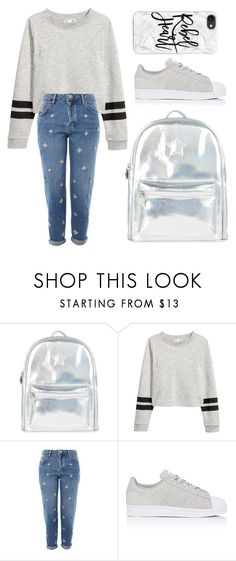 """Shout Out To My School 🎒"" by sassysals ❤ liked on Polyvore featuring Accessorize, Topshop, adidas and Casetify"