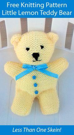 Teddy Bear Patterns Free, Teddy Bear Knitting Pattern, Animal Knitting Patterns, Knitted Teddy Bear, Knitting Patterns For Babies, Knitting Dolls Free Patterns, Crochet Bear, Crochet Toys, Knitting Toys Easy