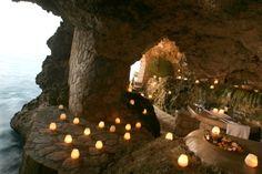 Dine in a cave in Negril, Jamaica.