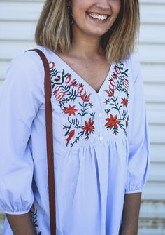 Embroidered Dress - Shein dress review - embroidery trend - How 2 Wear It