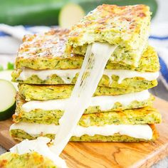 "These grilled cheese sandwiches are low carb and healthier than traditional grilled cheese sandwiches, by using a zucchini ""bread"" similar to zucchini pizza crust. I am totally in love with low carb zucchini crust. I think I may actually like it even more than cauliflower crust. It's also easier and faster to make because you …"
