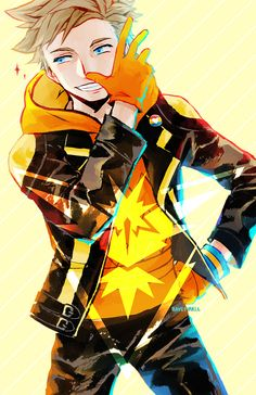 I'm Team Instinct. Please don't make fun of Spark He's trying his best u///u Also Ham said he looks identical to Owain from Fire Emblem and suddenly…