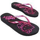 Hello Kitty Juniors' Glitter Wedge Flip Flops -