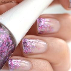 This is a cute way to wear that bar glitter you don't want to do a fully manicure with