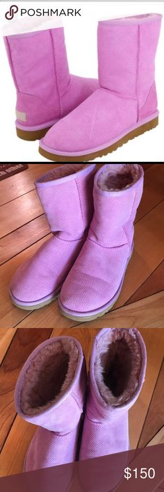 UGG boots! 濾 EUC, only worn a handful of times. These beautiful Orchid color boots are one of a kind!! Size 6! 濾 They are in fabulous condition, open to offers!! UGG Shoes
