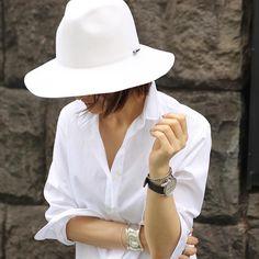 #outfit WhiteWhite #shirt#thomasmason by yoshikotomioka