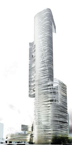 Kuala Lumpur - Aurora Tower by Thom Mayne @ Morphosis (Proposal)