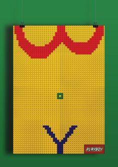 PLAYBOY steals LEGO'S visual identity on Behance