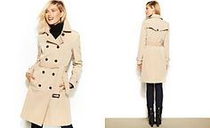 Calvin Klein Double-Breasted Belted Trenchcoat via Macys.com