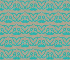 widden_panel_aqua fabric by holli_zollinger on Spoonflower - custom fabric. Sample.