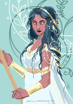 """just-cuz-rivaldi: """" sketch a young athena """" Fantasy Character Design, Character Concept, Character Art, Concept Art, Character Ideas, Greek Goddess Art, Athena Goddess, Cute Characters, Fantasy Characters"""