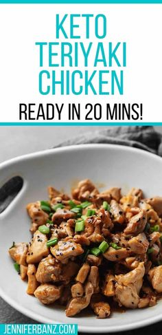 Low Carb Chicken Recipes, Low Carb Recipes, Cooking Recipes, Healthy Recipes, Keto Chicken, Keto Chinese Food, Low Carb Diet, Keto Dinner, Teriyaki Chicken