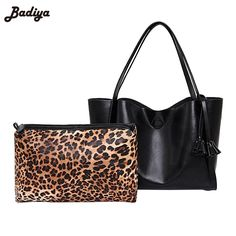 33.02$  Know more  - Hot Designer 2Sets PU Leather Shoulder Bag All-match Messenger Bags With Delicate Pendant Leopard Handbags Women Tote Bag