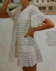 Lacy Beach Cover Up Crochet Pattern