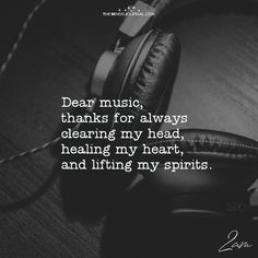 Dear Music, Thanks For Always Clearing My Head – themindsjournal.c… Dear Music, Thanks For Always Clearing My Head – themindsjournal. Papa Roach, Music Is My Escape, Music Is Life, Music Mood, Listening To Music, Garth Brooks, Music Lyrics, Music Songs, Music Quotes Deep