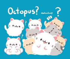 Octopus cats by Mahoukarp