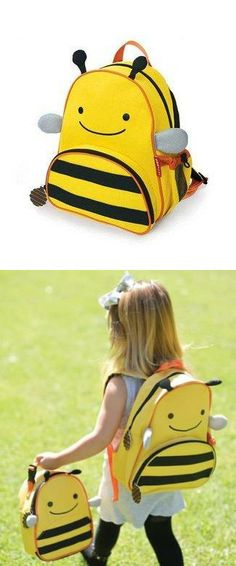 c9f63c9d1721 MM-BABY® Fashion Cute Animals Canvas School Backpack For Kids Bee Super  cute animal