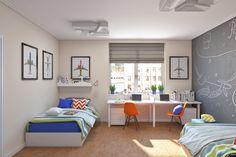 Лучший Дизайн детской спальни для двух и трех разнополых детей - 240+ (Фото) Идей зонирования интерьера