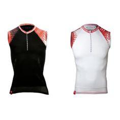 Compressport koszulka do biegania Running Tank czarna i biała