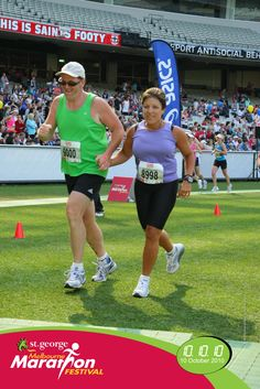 """My first Half-Marathon - finishing with my wife! 10/10/10!  93kg! Never thought I would do anything with """"marathon"""" in it!"""