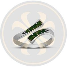 Prong Set Green Sapphire 925 Sterling Silver Modern Adjustable Bypass Toe Ring #parasexports