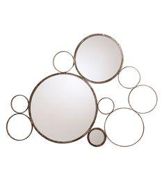 Arteriors Sheridan Silver Iron Mirror #blisshomeanddesign.com