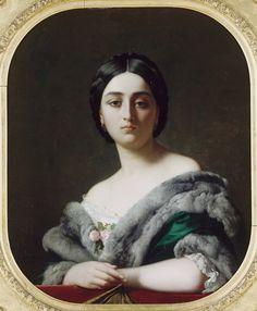 Henri LEHMANN (Karl-Ernest-Rudolf LEHMANN, dit) Léonide,1848 ~ originally titled Monna Belcolore