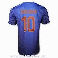 Nueva camiseta de Sneijder 2nd Holanda 2014-2016