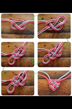 Cute tutorial on how to make a heart out of rope