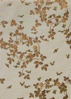 Candace Wheeler's stunning and historic Honeybee Wallpaper c. 1881 reproduced by Burrows Studio. $150 per roll.