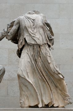 """Figure from the Parthenon East Pediment. Also known as the """"Elgin Marbles"""" currently in the British Museum in London."""