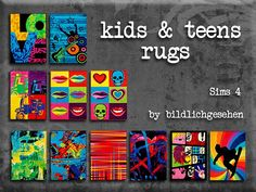 Kids and teens rugs at Akisima • Sims 4 Updates