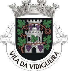 Municipality of Vidigueira, Beja, Portugal (Area Km²) Elmo, City Logo, Medieval, Coat Of Arms, Porsche Logo, Symbols, Knight In Armor, City Museum, Islamic Art