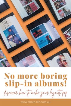 Update your slip-in photo albums with a non traditional look using some of the ideas and inspiration from what we have put together for you. Traditional Looks, Albums, Coral, Slip On, Scrapbook, Beach, How To Make, Life, Inspiration