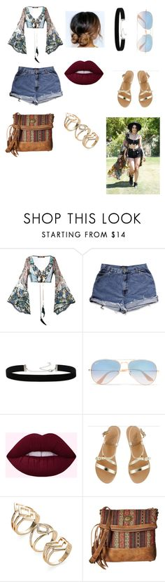 """Untitled #120"" by fshioncrazy ❤ liked on Polyvore featuring Roberto Cavalli, 2028, Ray-Ban, Ancient Greek Sandals and American West"