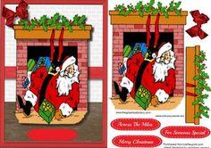 I think Santa s had a few to many  on Craftsuprint - Add To Basket!
