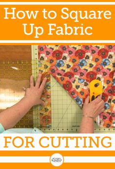 Learning how to square up fabric before cutting any pieces for your next quilt is an important lesson. Heather Thomas teaches you how she squares up fabric after it has been pre-washed and gets it ready to be used.