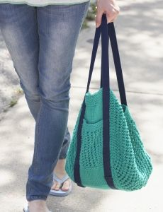 Knit Market Bag | Yarn | Free Knitting Patterns | Crochet Patterns | Yarnspirations