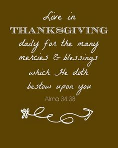 Quotation of the Month - Live in Thanksgiving Daily