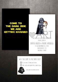 IMPRIMIBLE Invitaciones de boda de la Guerra de las por Geekandart