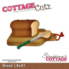 Cottage Cutz-Kitchen Series-4x4 Die-Bread      Item Number: COT-4x4-373  Your Price: $19.95