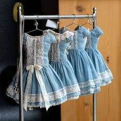 Blythe dresses for #blytheconuk Oct 7 in Liverpool. #blythedress Rack by @dreamcometruebeds
