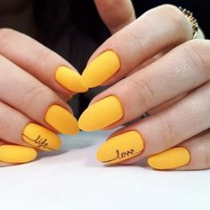 30 Adorable Nail Art Designs of 2019 Let mama cook delicious cookies. You just sit back and Adorable Nail Art Designs of Ballerina Nails in Muted ColorsThis Yellow Nails Design, Yellow Nail Art, White Nail Art, Neon Yellow, Nail Art Designs Images, Fall Nail Art Designs, Acrylic Nail Designs, Nail Art For Fall, Fabulous Nails