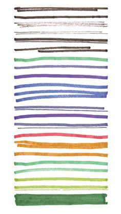 Think Design Blog - Free Vectors - 230 Marker Illustrator Brushes   Think Design