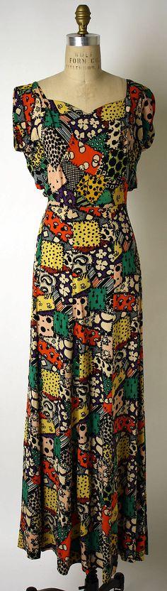 Ensemble, Dinner. Elsa Schiaparelli (Italian, 1890–1973). Date: fall 1936. Culture: French. Medium: synthetics.
