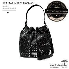 Jem Marinero Tachas negro - Comprar en maria del este