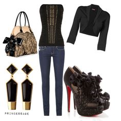 Hot in Black, created by princessage.polyvore.com