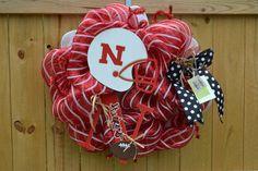 Nebraska Cornhuskers wreath by ArtzyDecorAndMore on Etsy