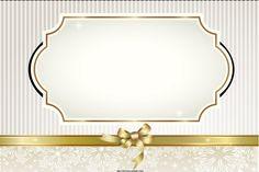 convites de casamento com bordas douradas